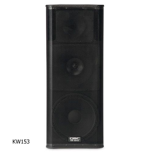 QSC KW153 3-Way Powered Speaker 15 inch - 1000 watts