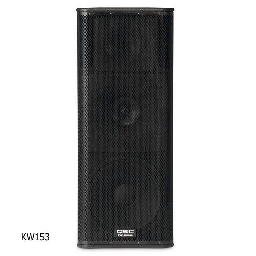 QSC KW153 3-Way Powered Speaker 15 inch - 1000 watts