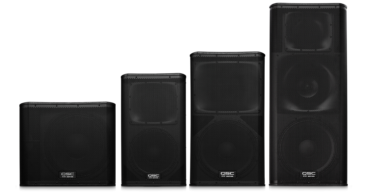 QSC speakers sub